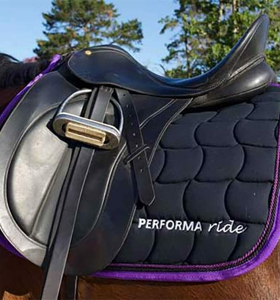 performa ride saddle pad purple 1