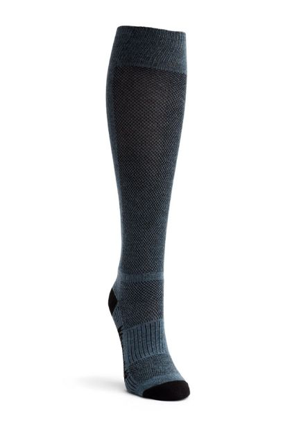 wright knee high horse riding socks grey front