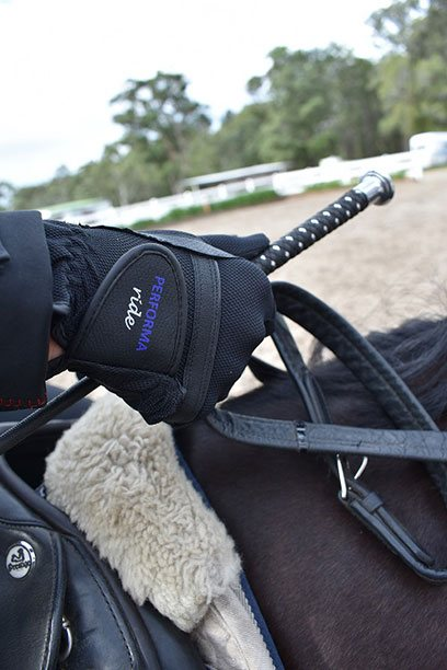 performa ride horse riding glove black 2