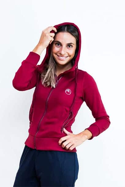 horse riding fleece tracksuit hoodie burgundy performa ride