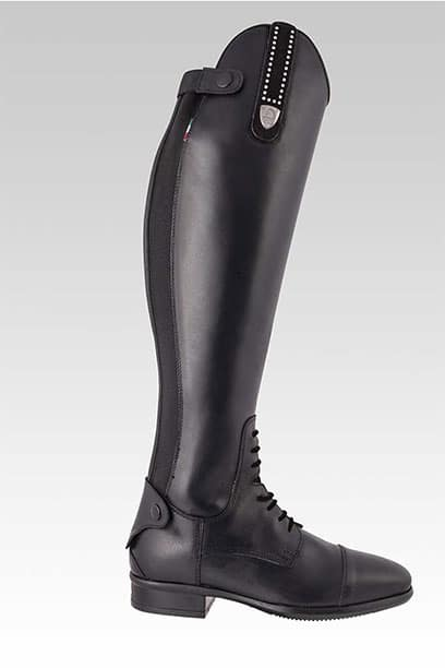 tattini retriever laced long riding tall boots with grip inserts right
