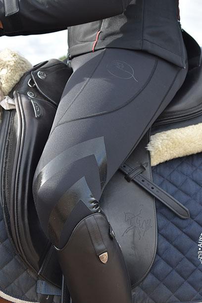 performa ride black flexion horse riding tights side