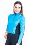 horse riding tech shirt aqua front performa ride