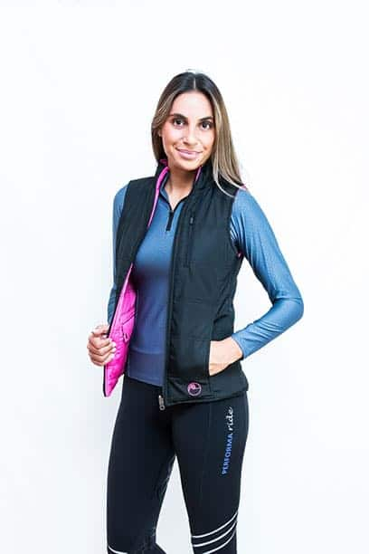 horse riding top reversible vest pink1 performa ride