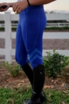 flexion horse riding tights sapphire front left side performa ride
