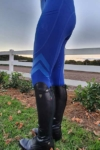 flexion horse riding tights sapphire left side performa ride