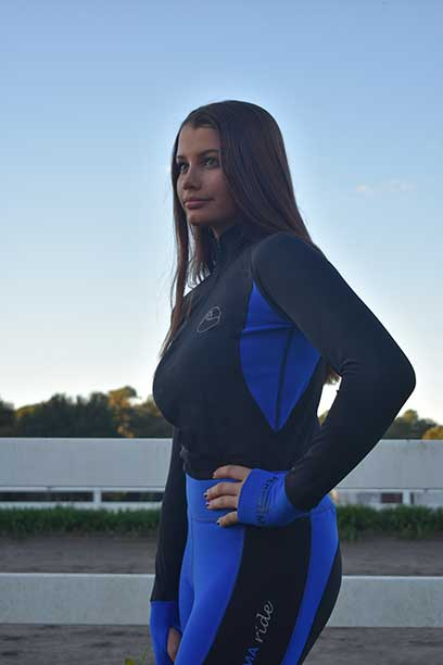 baselayer top royal front left performa ride