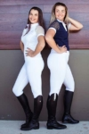 flexion horse riding tights white performa ride 2