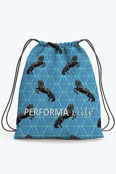 horse drawstring bag pattern limited edition performa ride