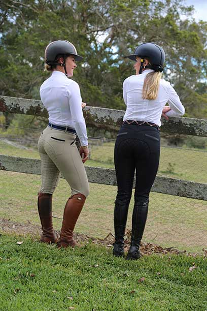findlay breech black taupe back side performa ride