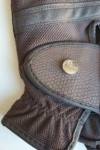 horse riding glove brown top button close up performa ride