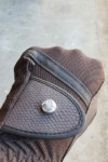 horse riding glove brown top button side performa ride
