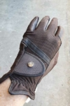horse riding glove brown top side performa ride