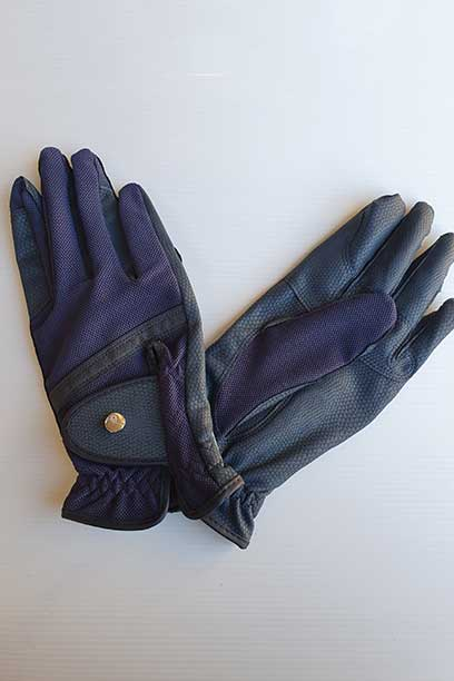 horse riding glove navy performa ride