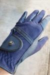 horse riding glove navy top side performa ride