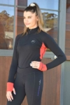base layer horse riding top red left front side performa ride