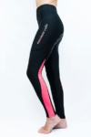 colour block horse riding tights pink left side performa ride