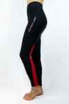 colour block horse riding tights red colour left side performa ride