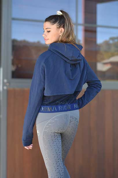 fierce hoodie navy back side performa ride