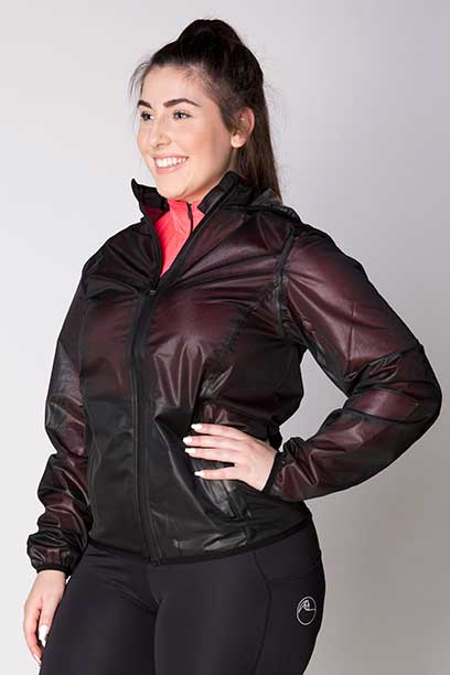 focus rain jacket no hood front left performa ride