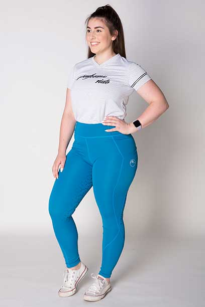 disrupt summer horse riding tights aspen blue front left b performa ride