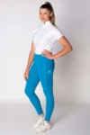 disrupt summer horse riding tights aspen blue front left performa ride