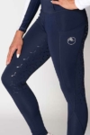 disrupt summer horse riding tights navy front left close up a performa ride