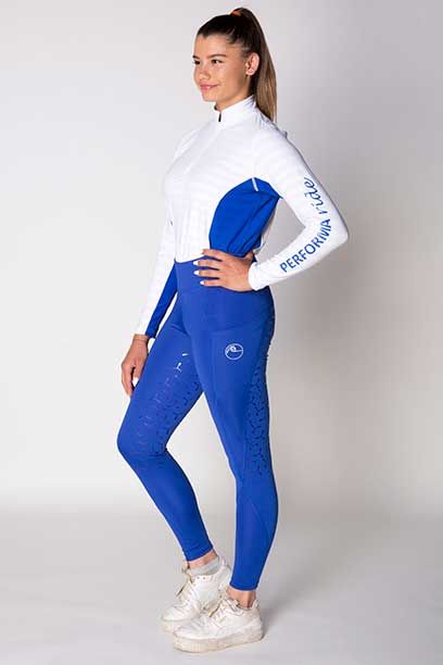 disrupt summer horse riding tights royal blue front left a performa ride