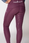 double pocket full seat equestrian riding tights grape back left b performa ride