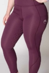 double pocket full seat equestrian riding tights grape front left a performa ride