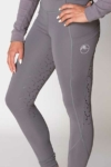 double pocket full seat equestrian riding tights grey front left b performa ride