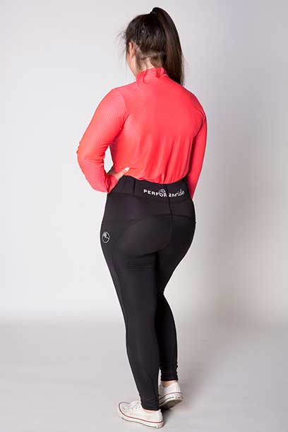 double pocket non stick equestrian riding tights back a performa ride