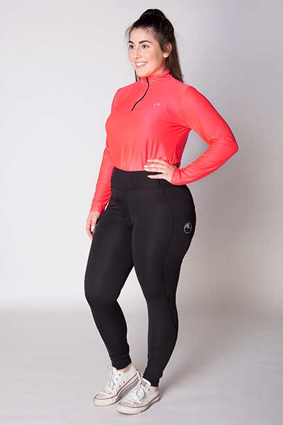 double pocket non stick equestrian riding tights front left a performa ride