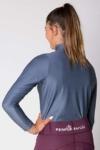equestrian grey glacier long sleeve baselayer top back side b performa ride