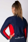 equestrian technical shirt red navy back b performa ride