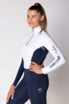 equestrian technical shirt white navy left b performa ride