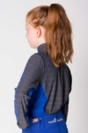 equestrian technical shirt youth grey blue back left performa ride