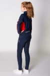 equestrian technical shirt youth red navy back left performa ride
