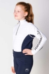 equestrian technical shirt youth white navy front left performa ride