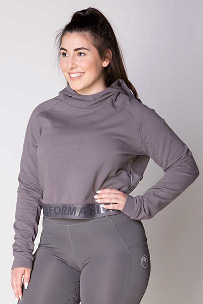 fierce equestrian riding hoodie grey front left a performa ride