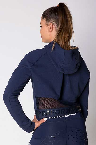 fierce equestrian riding hoodie navy back b performa ride