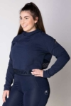 fierce equestrian riding hoodie navy front left a performa ride