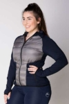 freedom hybrid equestrian jacket grey navy front left a performa ride