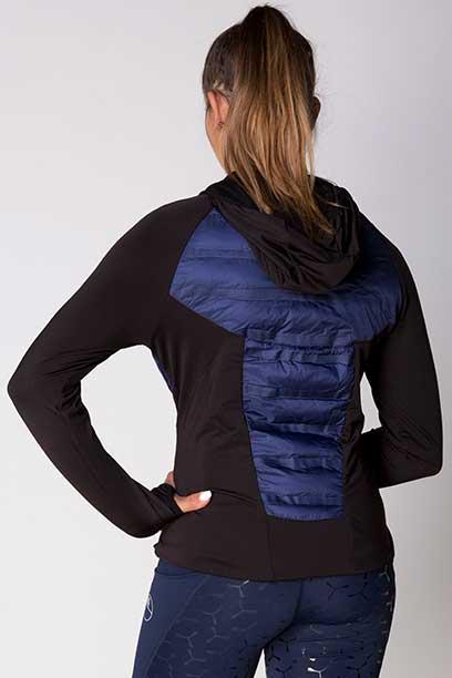 freedom hybrid equestrian jacket navy black back left b performa ride