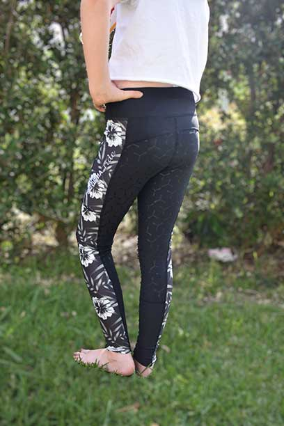 liberty limited edition equestrian tights youth grey flower front left performa ride