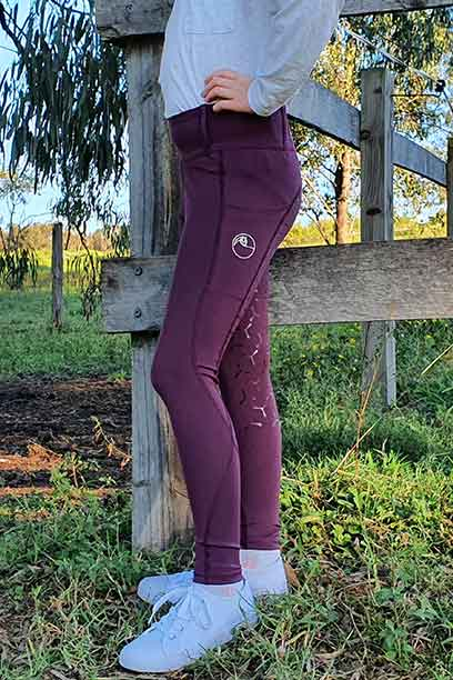 youth disrupt horse riding tights grape left performa ride