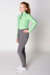 youth disrupt horse riding tights grey front left performa ride
