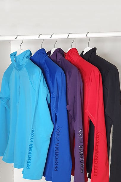 equestrian top chill base layer multiple colours performa ride