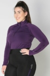 equestrian top chill base layer purple front a performa ride