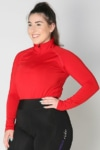 equestrian top chill base layer red front a performa ride